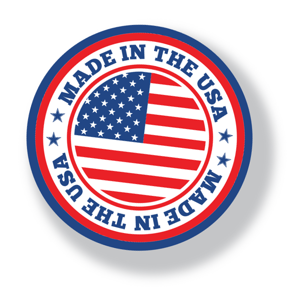 Round Made in the USA seal