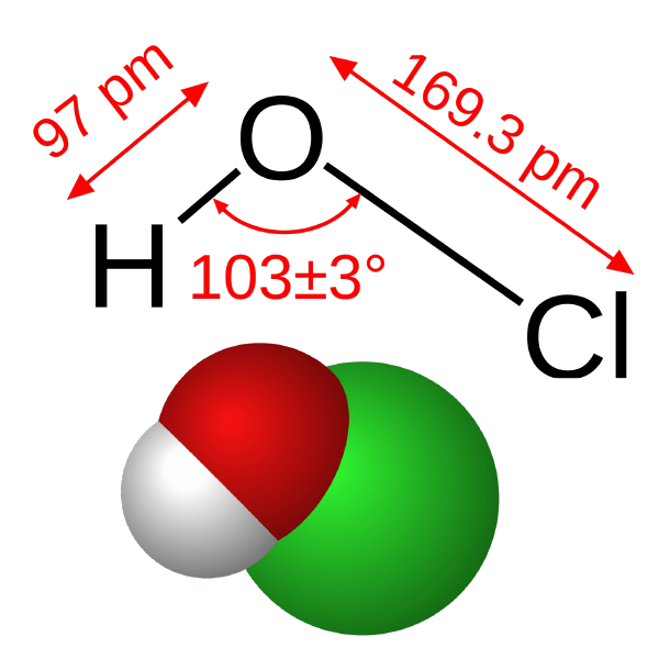 HOCl diagram from Wikipedia